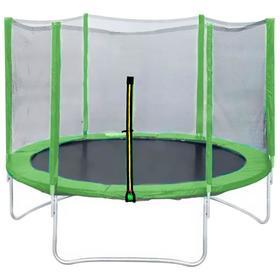 Батут DFC Trampoline Fitness 14 ft, d=427 см, с наружней сеткой, светло-зелёный