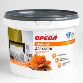 Краска водно-дисперсионная для обоев белая 3 кг