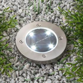 Фонарь садовый на солнечной батарее Uniel, 4 светодиода, белый свет,  IP44