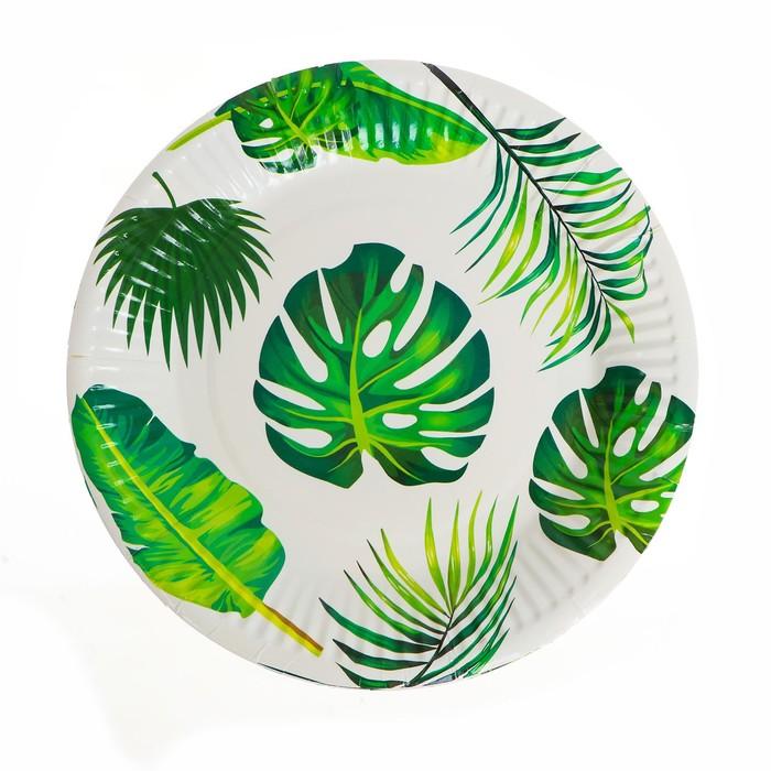 """Plate paper """"Tropics"""" set of 6 PCs"""