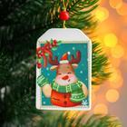 Pendant wooden Christmas mood 0,5x5,4x8 cm