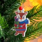 "Christmas pendant wooden ""Christmas animals"" is 0,5x5,5x7,5 cm"
