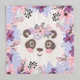 Салфетки бумажные «Панда», 33х33 см, набор 20 шт.