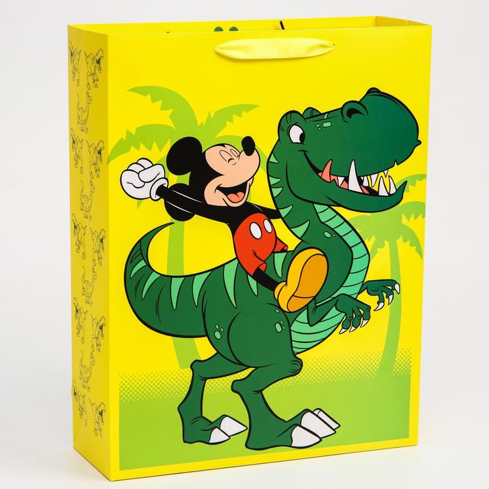 """Пакет ламинат вертикальный """"Dino"""", Микки Маус, 31х40х11 см"""