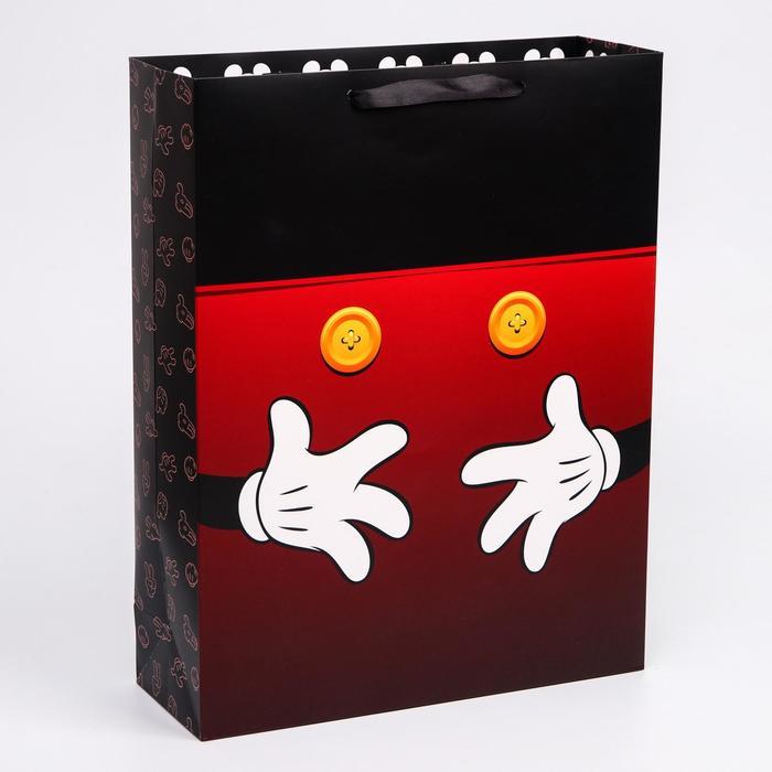 """Пакет ламинат вертикальный """"Микки"""", Микки Маус, 31х40х11 см"""