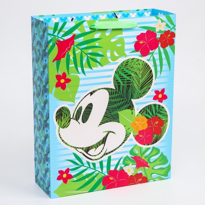 "Пакет ламинат вертикальный ""Mickey"", Микки Маус, 31х40х11 см"