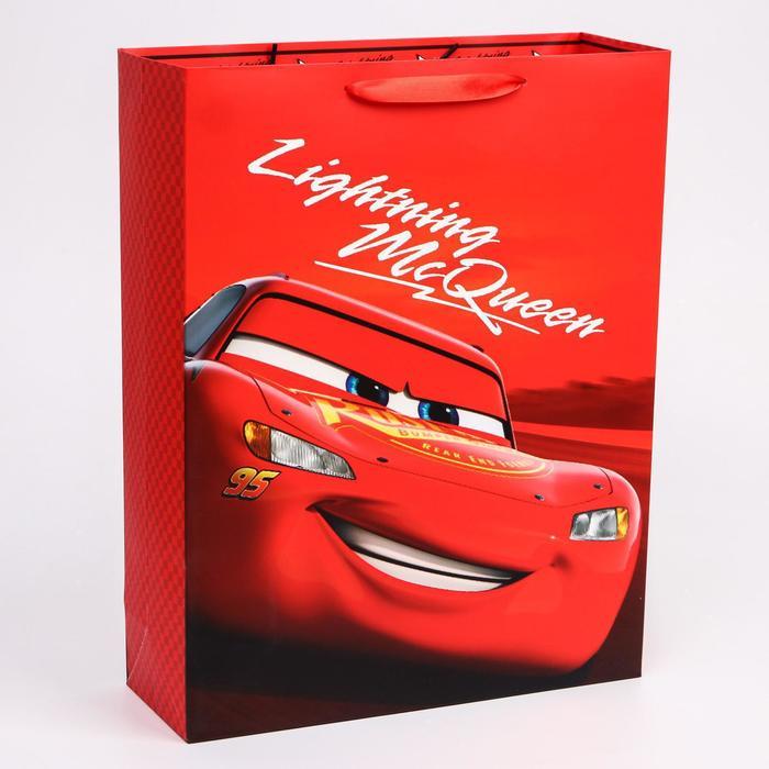 """Пакет ламинат вертикальный """"McQueen"""", Тачки, 31х40х11 см"""
