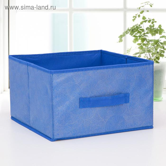 "Box storage 29х29х18 cm ""Fabien"" color blue"