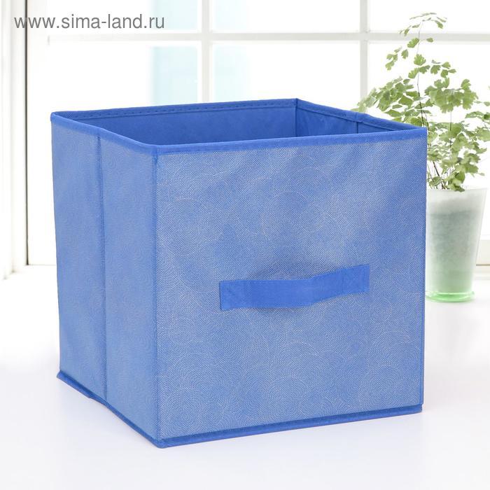 "Box storage 27х27х27 cm ""Fabien"" color blue"