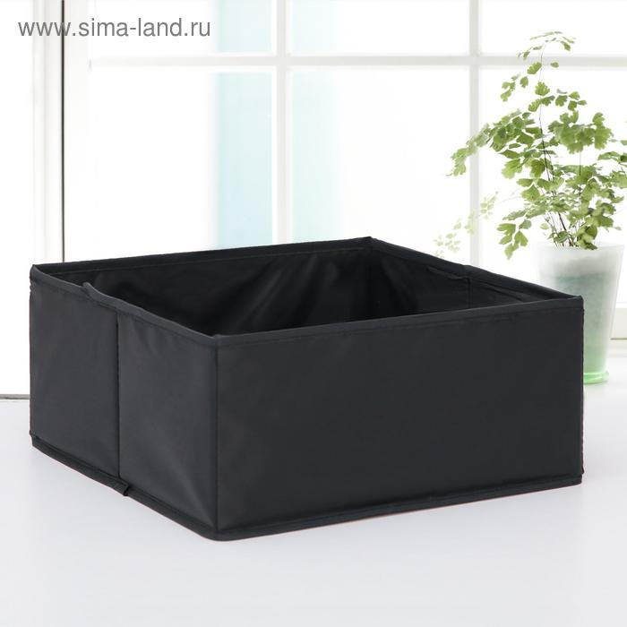"""Carrying case for storage 28х28х13 cm """"Amoret"""" Oxford, color black"""