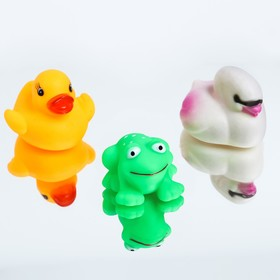 """Toys for tubs """"Duck, Swan, frog"""", 3 PCs."""