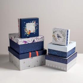 Набор подарочных коробок 6 в 1 «Новогодний», 10 × 10 × 6 - 20 × 20 × 11 см