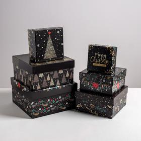 Набор подарочных коробок 6 в 1 «С новым годом», 10 × 10 × 6 - 20 × 20 × 11 см