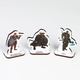 """A set of miniatures """"war at the races No. 1"""", wood, 3pcs."""
