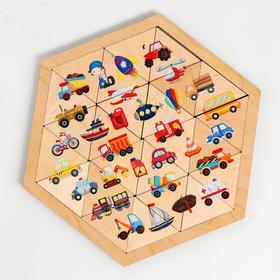 Пазл деревянный «Транспорт» (Занимательные треугольники)
