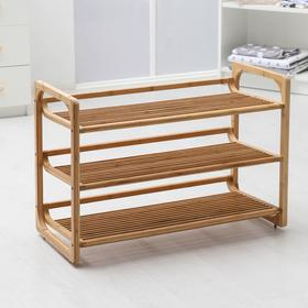 Этажерка для обуви №5, 3 яруса, 72×33,5×50 см, бамбук