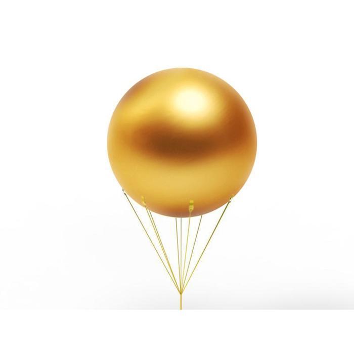 Шар воздушный 1.5 м, цвет золото - фото 953126