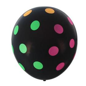 "Balloon latex 12"" ""Large mugs"" set of 5pcs, black pastel, 5 CT, color MIX"