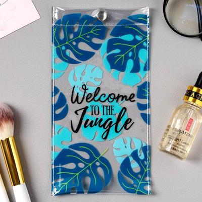 Spectacle case Jungle, 9.3 x 17.8 cm