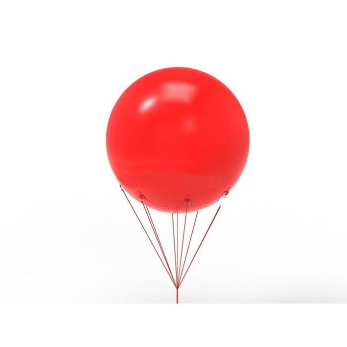 Шар воздушный 2 м, цвет красный - фото 953147