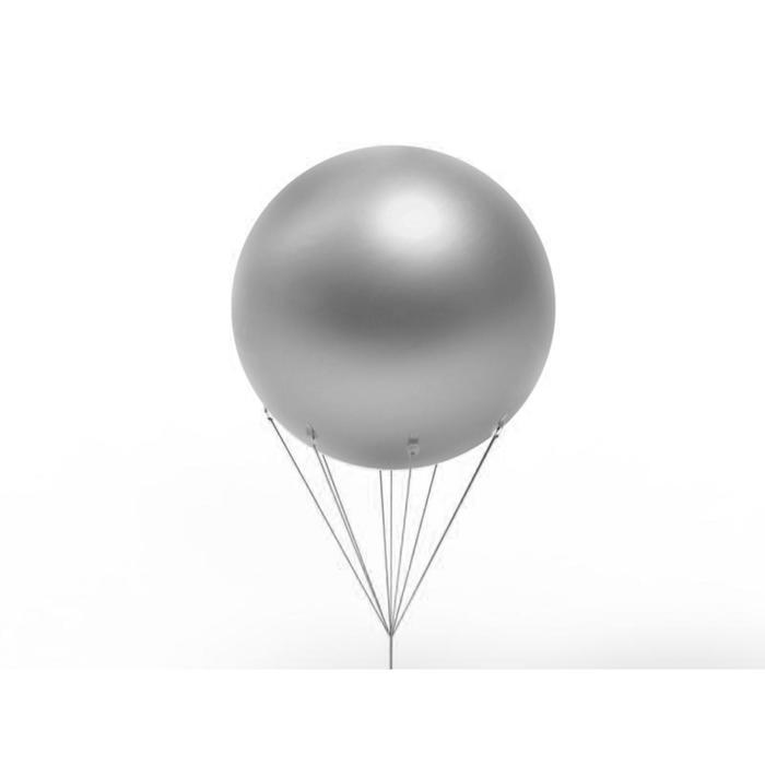 Шар воздушный 3 м, цвет серебро - фото 1165315