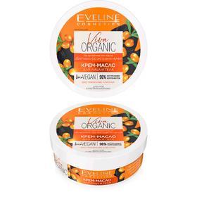 Крем-масло для лица и тела Eveline Viva Organic, для сухой и чувствительной кожи, 200 мл