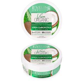 Крем-сыворотка для лица и тела Eveline Viva Organic, для сухой кожи, 200 мл