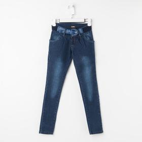 Брюки-галифе для девочки, цвет синий, рост 122 см
