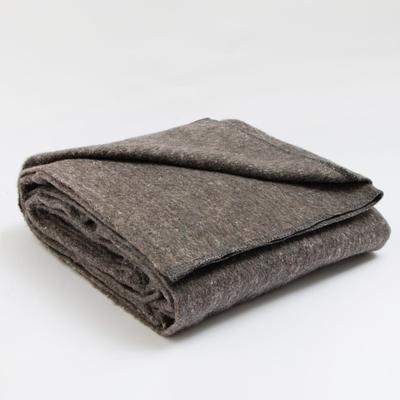 Blanket wool blend Economy 140х205 cm, cage MIX, 380-400 g/m2