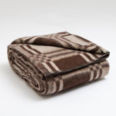 Blanket wool blend 140х205 cm, cage MIX, 500 g/m2