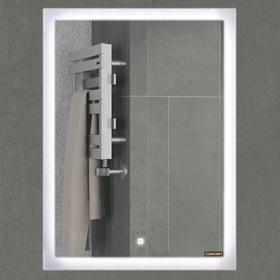 Зеркало COMFORTY «Гиацинт 60» 600х800 мм, LED-подсветка, сенсор