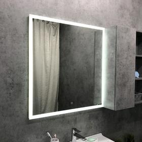 Зеркало COMFORTY «Гиацинт-80» 800х800 мм, LED-подсветка, сенсор