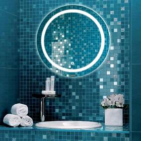 Зеркало COMFORTY «Круг-75» d=75 см, светодиодная лента, сенсор