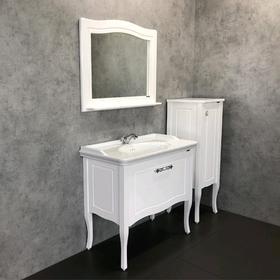 Зеркало COMFORTY «Павия-100» 950х750 мм, белый глянец