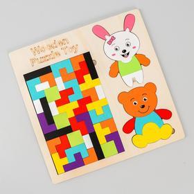 Набор головоломок «Пазл + животные» 0,5×30×30 см