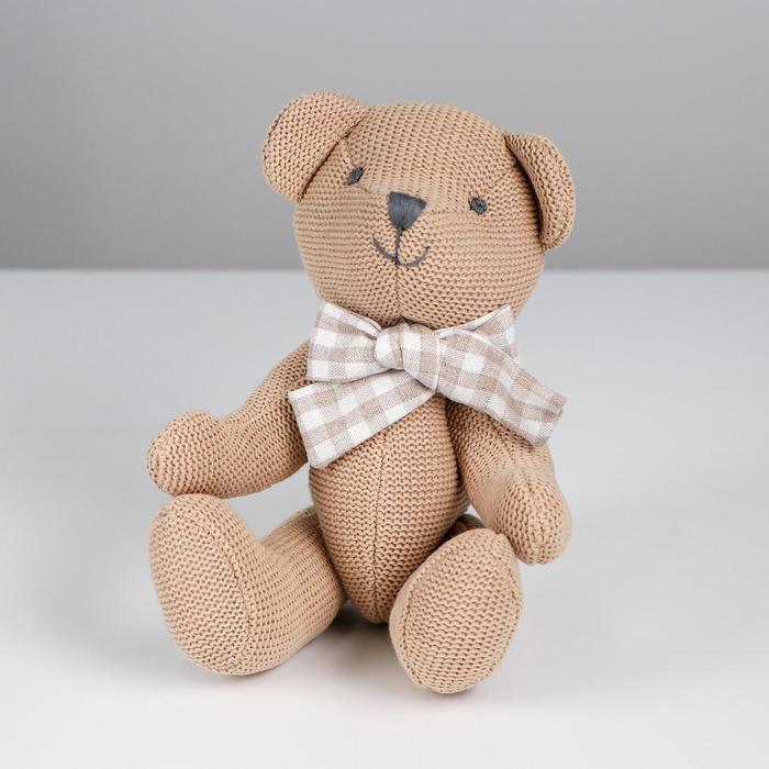 Мягкая игрушка «Мишутка», вязаный, цвета МИКС - фото 4471435