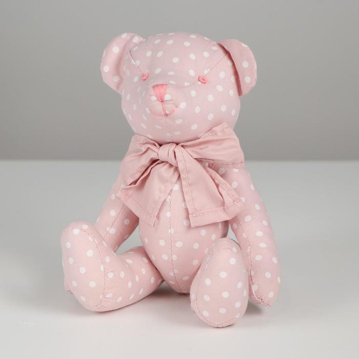 Мягкая игрушка «Мишутка», в горох - фото 4471438