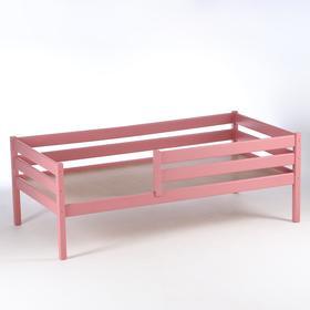Кровать Сева, спальное место 1600х800, цвет Розовый пастельный, Массив Берёзы