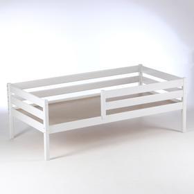 Кровать Сева, спальное место 1400х800, цвет Белый, Массив Берёзы Ош
