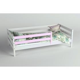 Кровать Сева, спальное место 1400х800, цвет Белый/Розовый, Массив Берёзы