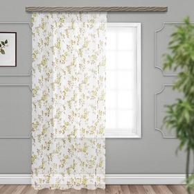 Тюль вуаль-печать «Кустовая роза« 300х260 см, зелёный, пэ 100%