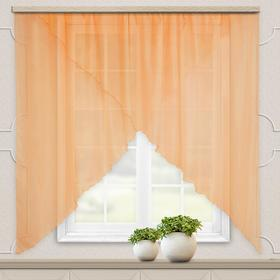 A set of curtains for the kitchen Marianna 300x160 cm, peach monophonic, pe 100%