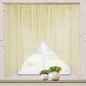Комплект штор для кухни Марианна 300х160 см, св.бежевый однотон., пэ 100%
