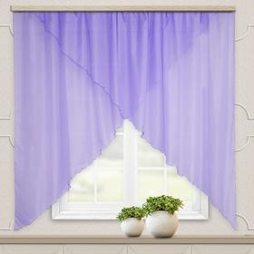 A set of curtains for the kitchen Marianna 300x160 cm, lilac monochromatic, pe 100%