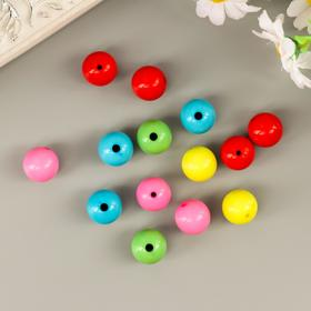"""Beads for creativity """"Balls"""", 16 mm, 30 grams, 5 colors"""