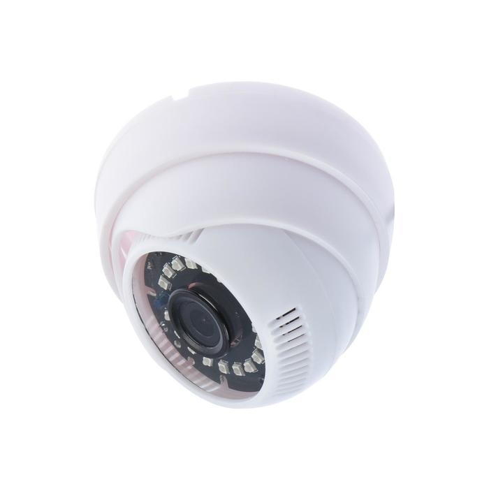 Видеокамера купольная Si-Cam SC-HL200F IR, AHD/CVI/TVI/CVBS, 2 Мп, 1080Р, f=3.6 мм, белая