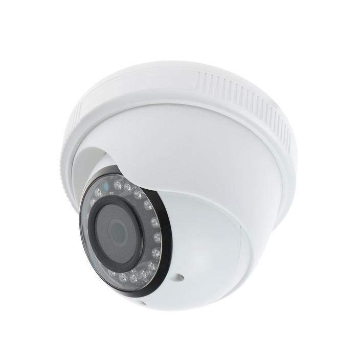 Видеокамера купольная Si-Cam SC-DS204F, IP, 2 Мп, 1080Р, Sony IMX323, f=2.8 мм, 25 fps,белая