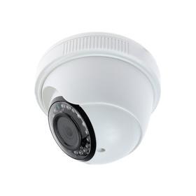 Видеокамера купольная Si-Cam SC-DS204F, IP, 2 Мп,1080Р,Sony IMX323,f=2.8 мм,25 fps,MIC,белая