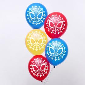 """Воздушные шары """"Spider-man"""", Человек-паук, 12 дюйм (набор 5 шт)"""