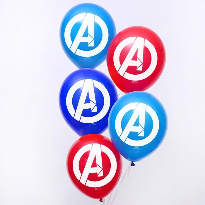 """Воздушные шары """"Avengers"""", Мстители, 12 дюйм (набор 25 шт) - фото 955442"""